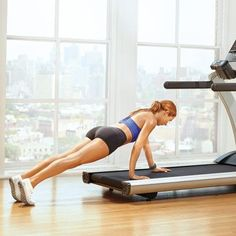 Tone Your Entire Body With Just Seven Treadmill Moves | Wheelbarrow: Works shoulders, chest, abs