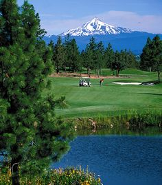 Eastmoreland Golf Course (OR) is open year round. The terrain is hilly, there's plenty of water and it has a gorgeous view of Mt. Hood.