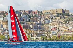 Team Luna Rossa at the America's Cup in Naples, Italy