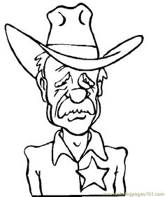 Free cowboy coloring pages and more with a \