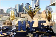 Black spray paint and glitter is all that is needed to turn this wooden letters into festive New Year decor!