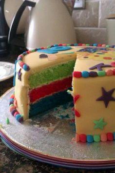 Small rainbow cake
