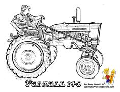 allis chalmers tractor coloring pages - photo#15
