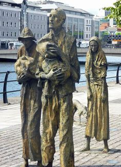 Famine Memorial - Dublin Liffey River - Republic of Ireland - Northern Irish Abroad