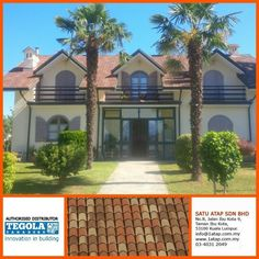 Tegola  Master coppo with 3D effect and shades. 100% from Italy.  Whatever design, tegola roof enhance your property value with cooling inside, anti theft and warranty zero leaking. Whether there are other roof who can ? Tegola dare to challenge.  Tegola the only fashionable roof for life.  www.1atap.com.my/tegola