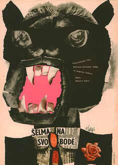 The Beast is Loose (La Fauve est laché), 1966. Film poster by Karel Teissig. Film poster by Karel Teissig.