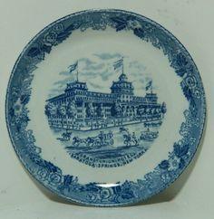 Jonroth Old English Staffordshire Ware Grand Hotel Saratoga Springs NY Coaster picclick.com