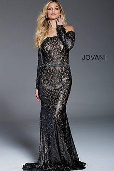 133efd2a863 Black nude long fitted lace embellished belt long sleeve metallic dress. Evening  GownsLace Evening DressesFormal ...