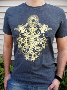 Bee Mandala shirt; Dad