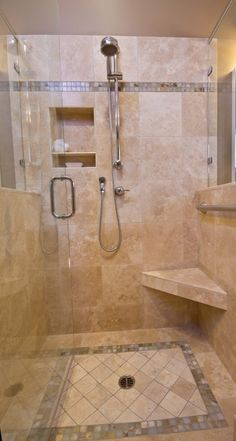 Decorative Tile Height And Edging In Shower Floor Location Of Fixtures Cut