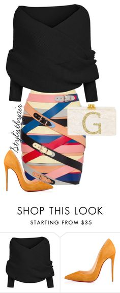 """Untitled #6680"" by stylistbyair ❤ liked on Polyvore featuring Christian Louboutin"