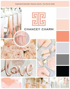 Moodboard for Chancey Charm by Viva la Violet | Beautiful Websites + Branding for Female Creatives | www.vivalaviolet.com