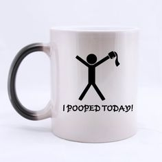 Funny Coffee Mug - Best Designed I Pooped Today Man Toilet Paper Cheap Custom Morphing Mugs * Discover this special cat product, click the image : Cat mug