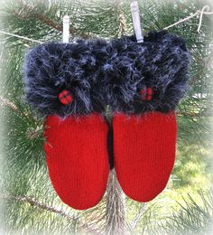 100 WOOL WOMEN'S Recycled Sweater Mittens by DesignItAgainCrafts, $40.00