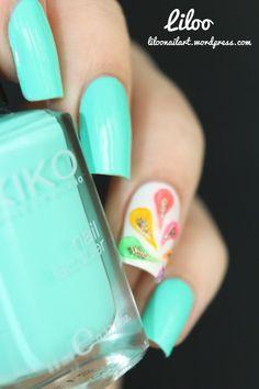 cute accent nail. liloo  #nail #nails #nailart