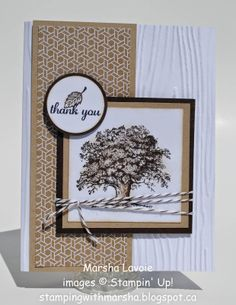 masculine Lovely As A Tree Thank You card by Marsha Lavoie