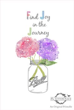 Find Joy in the Journey Free Printable | On Sutton Place
