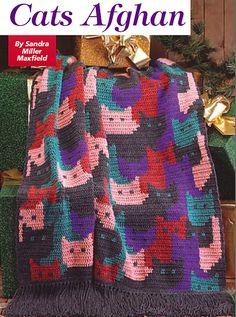 Cat's Afghan crochet pattern