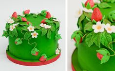 Pastel Fresas Strawberries cake