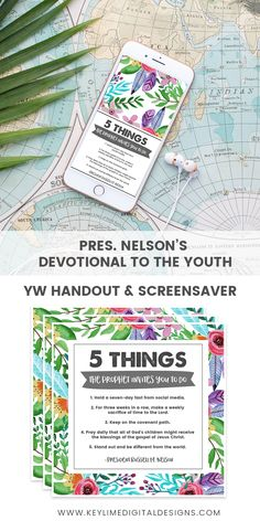 President Nelson's Challenge to the Youth - A fun Handout for the YW!