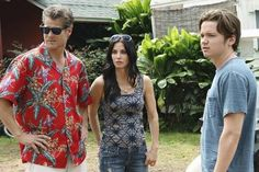 Courteney Cox, Dan Byrd and Brian Van Holt in Cougar Town.