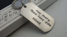 Semi truck driver keychain may every road lead you home