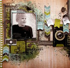 #papercraft #scrapbook #layout  A Designing team layout for Kaisercraft  working with Happy Snaps collection....