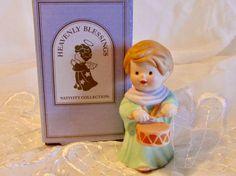 Bisque Porcelain Little Drummer Boy Figurine Avon by LasLovelies
