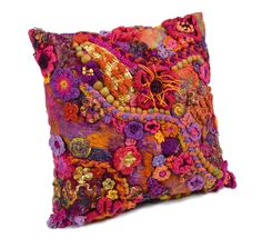 Crochet Pillow Cover ~ Consider Further Plans On Amazing 50 Pics Crochet Pillow Cover Intended for Specific One Little Rayndrop Crochet Cushion Cover On Crochet Pillow Cover Crochet Cushion Cover, Crochet Cushions, Crochet Pillow, Crochet Art, Crochet Home, Love Crochet, Irish Crochet, Manta Crochet, Freeform Crochet