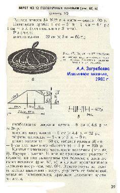 Берет на вязальной машине + полезные пояснения от KoNa http://club.osinka.ru/topic-66201?p=14030844#14030844