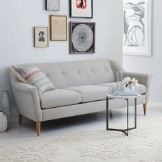 Finn Sofa | West Elm  little bit more a midcentury modern vibe than what I was picturing, but still good food for thought