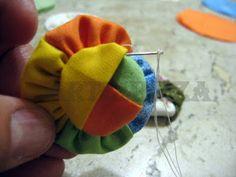ARTEMELZA - Arte e Artesanato: | fabric braided yo-yo