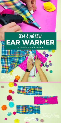 This Fleece Headband Ear Warmer Pattern (Free) is an easy sewing project. The DIY can also be a no sew fleece project! Sizes baby to adult. This Fleece Headband Pattern Ear Warmer looks cute and warm. Really simple instructions and there's a video tutorial to walk me through it - sweet! Great fleece sewing project. Perfect Ear warmer for winter. Fleece Projects, Easy Sewing Projects, Sewing Hacks, Sewing Crafts, Craft Projects, Sewing Ideas, Print Patterns, Sewing Patterns, Flapper Headband