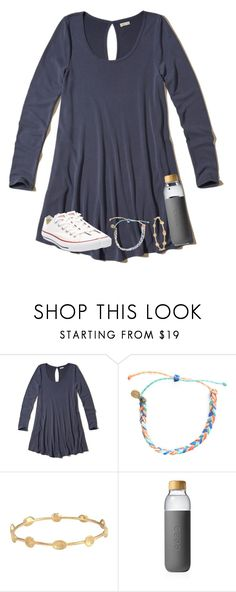 """Untitled #2568"" by laurenatria11 ❤ liked on Polyvore featuring Hollister Co., Pura Vida, Melinda Maria, Soma and Converse"