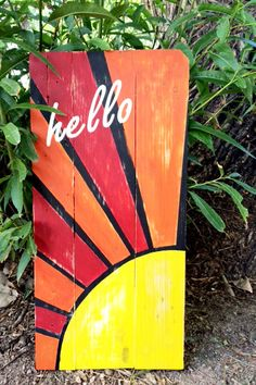 Hello Sign is made from all reclaimed wood. The piece measures approximately 28.25 x 13.75 x 1.5 and it is ready to hang. *Please note that each piece is unique, due to the nature of the wood used.  A little about the Dream Catchers Studio:  Dream Catchers, located in Colorado Springs CO, provides vocational training for adults with intellectual disabilities and at risk youth.  The Dream Catchers Studio mission is to supply our artisans with the workspace, tools, recycled materials and…