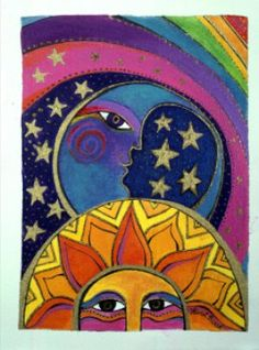 Celestial Sun and Moon - Laurel Burch