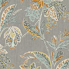 Gray and orange intricate leaf print on pure linen. An unexpected alternative to a paisley or floral. This intricate gray floral fabric is available by the yard and on most Loom custom furnishings. Paisley Bedding, Paisley Fabric, Floral Fabric, Fabric Dining Chairs, Chair Fabric, Drapery Fabric, Upholstery Fabrics, Room Chairs, Orange Fabric
