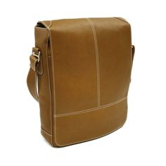 Piel Personalized Leather Urban Vertical Messenger Bag - Good Lord I have expensive taste.