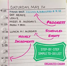 "Organized Charm: ""Down to the Basics"" To-Do List"