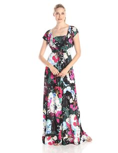 French Connection Women's Floral Empire Waist Maxi Dress ** Discover this special product, click the image : Women's dresses