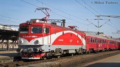 Electroputere, CFR Călători 477 AC Electric locomotive from CFR 470 series at Gara Bucureşti Nord in Romania Bahn, Train Tracks, Locomotive, Romania, Journey, History, Travel, World, Historia