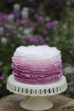 Ruffle cake | Ombre