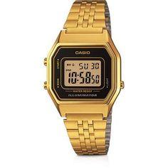 323851d8f9e Relógio Feminino Casio Digital Vintage Social Dourado LA680WGA-1DF