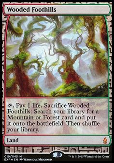Land Expedition Mtg Magic Mythic Rare 1x x1 1 FOIL Fire-Lit Thicket