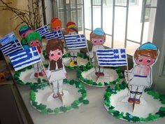 March Crafts, Spring Crafts, Greek Alphabet, 25 March, National Holidays, National Days, Greek Language, Craft Patterns, Pre School