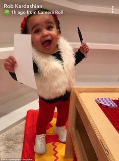 But on Saturday Rob Kardashian looked as though he has succeeded in curbing that practice, as Dream Kardashian, Kardashian Family, Kardashian Jenner, Kourtney Kardashian, Kylie Jenner, Cute Black Babies, Cute Babies, Black Chyna, Trapper Keeper
