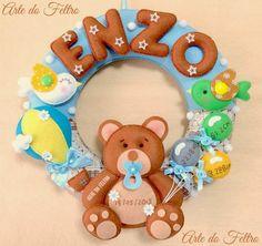 Guirlanda do Enzo (Tema: Urso que ama brincar com Balões e Bexigas)                   A Pedido da Cliente para colocar o Dia, Hora,Al...