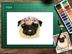 Request your very own unique Custom Portrait of your dog with a beautiful flower crown, the perfect addition to any animal lovers home! All we need from you is a good quality Photo of your pet to work from, preferably taken in natural light (this is important for capturing your pets