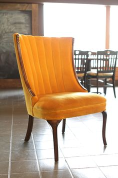 Mustard chair. Perfection.