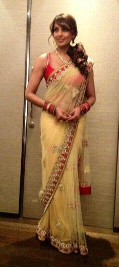 Bipasha Basu in a Binal Shah saree